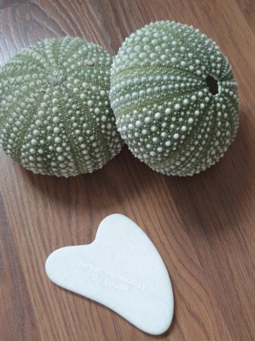 White Jade Stone Gua Sha - Heart Shape