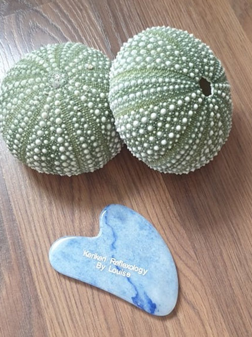 Blue Sodalite Stone Gua Sha - Heart Shape