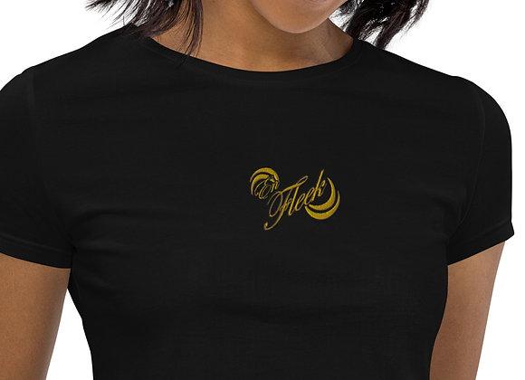 Team En Fleek Embroidery Organic Crop Top