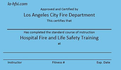 Los Angeles Hospital City Fire And life Safety training