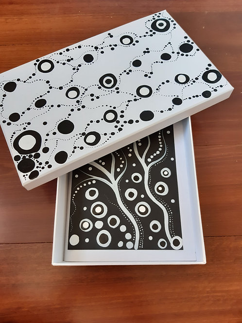 Hand Painted Card Box Set x1 small acrylic on card artwork