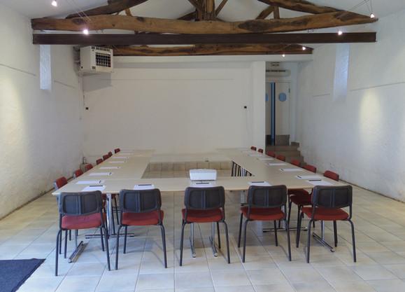 table de réunion en U