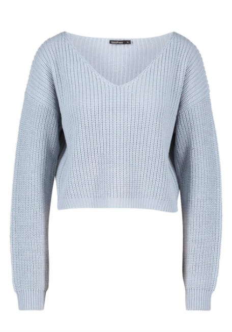 boohoo blue sweater