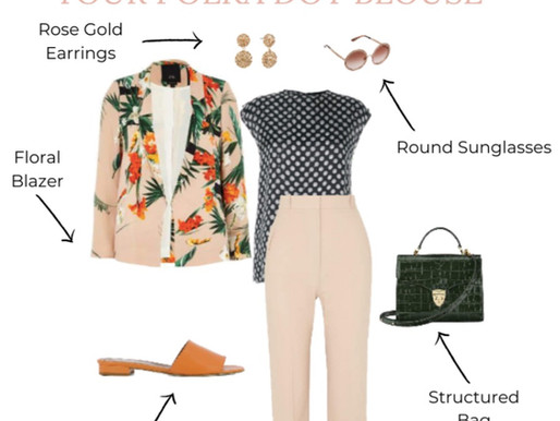 Polka Dot Blouse 3 Ways | Get The Look