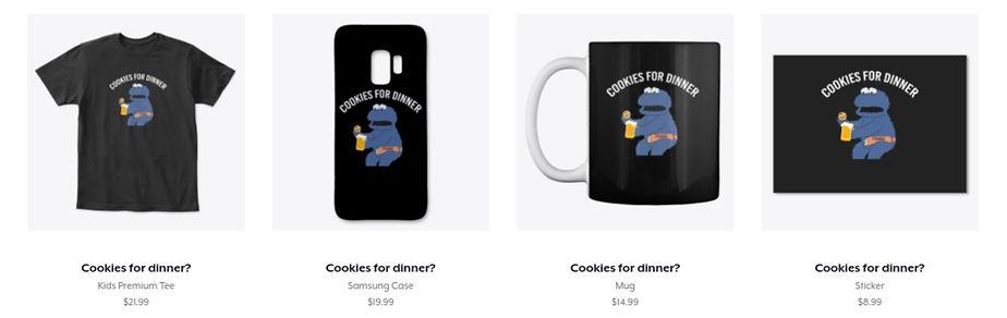 cookies for dinner tshirt