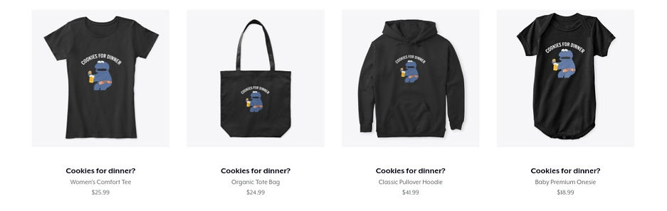 cookies for dinner merch