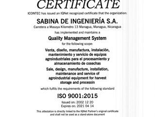 MIGRACIÓN  A LA ISO 9001-2015, MISIÓN CUMPLIDA!