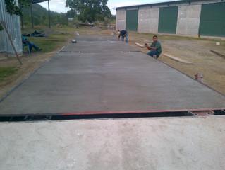 Fabricación e instalación de báscula camionera