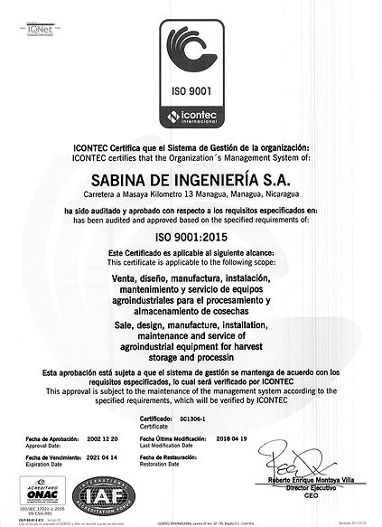 SABINA DE INGENIERIA ISO 9001_pagenumber