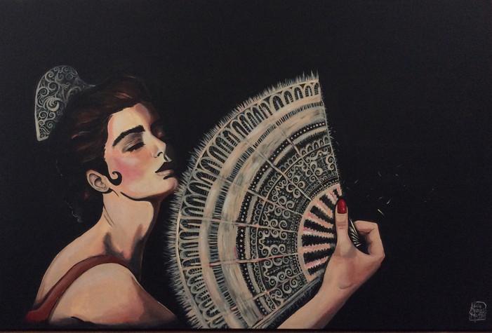 Spaniard Woman with Fan