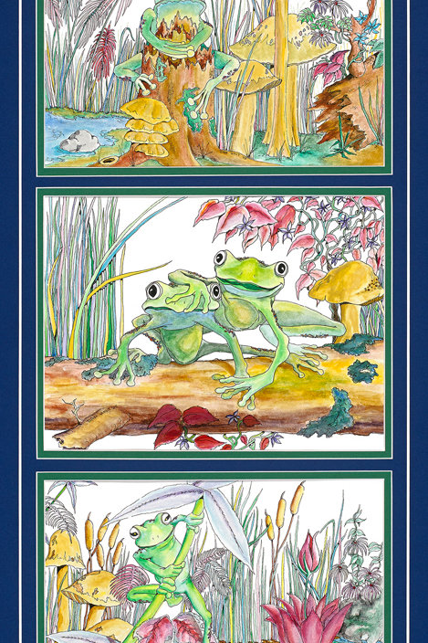 Frogs Set 1 is actually a set of three