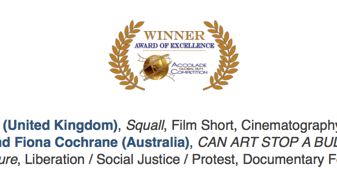 Some new awards and screenings