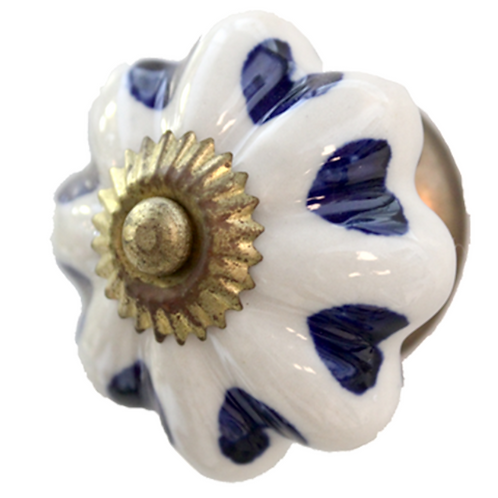 CDK 150 Ceramic Knob White Blue