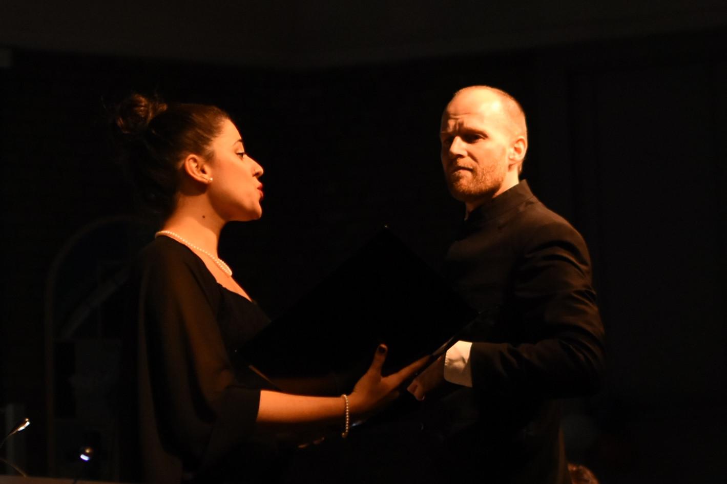 Francesca Pusceddu and conductor Pieter Bosma 2019