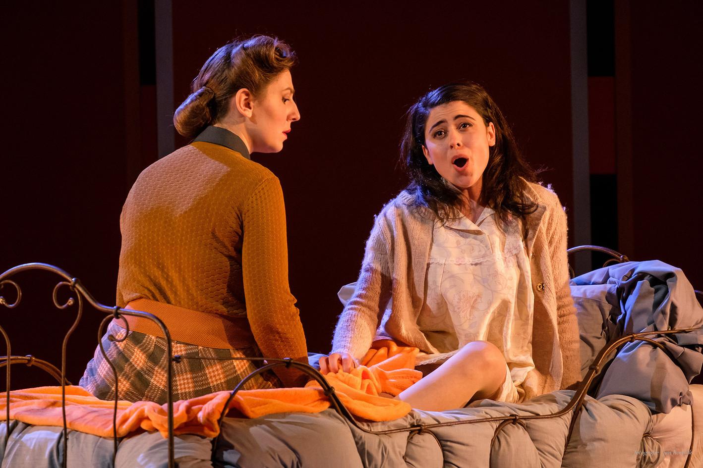 """Francesca Pusceddu and Linsey Coppens  in """"Little Women"""" By M. Adamo DNOA"""