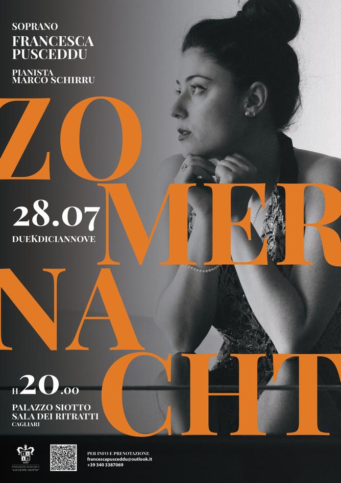 ZomerNacht Francesca Pusceddu e Marco Schirru Poster by Augusto Murgia Grafica di Augusto Murgia