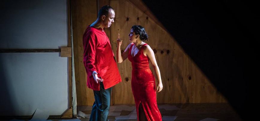 Francesca Pusceddu (Musetta) and Michael Dewis (Marcello) La Boheme 2017