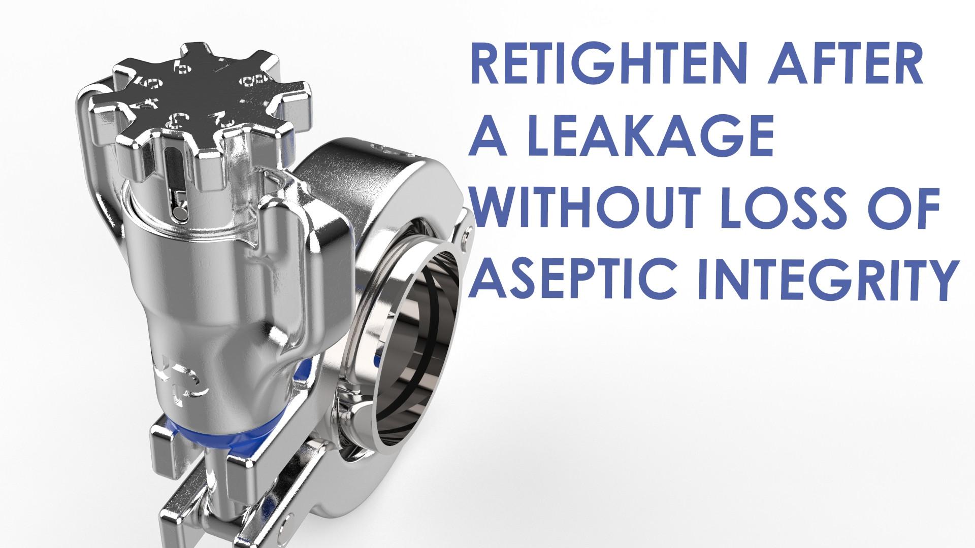 Retighten after leak aseptic