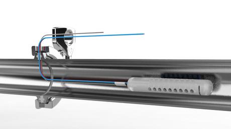 Sporfix Silicone mounted through a Sampling Gasket