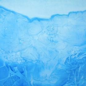 Infinite blue glacier . 150x100 cm
