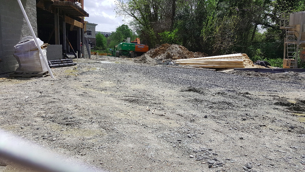 construction site, at ground level