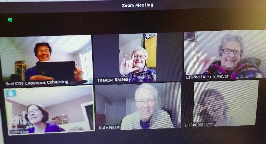 Zoom screenshot of subcircle members