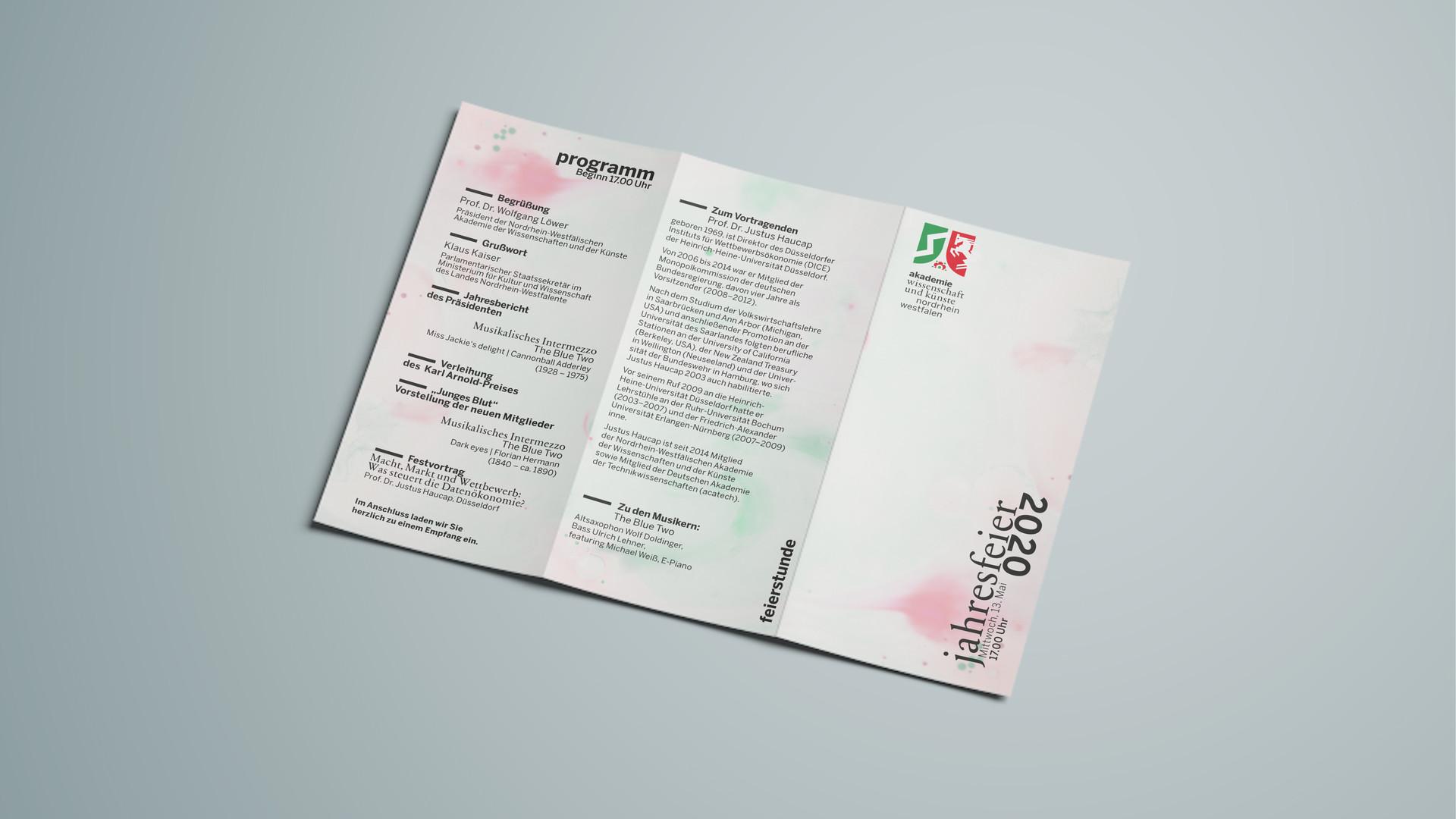 Programm (Rückseite Einladung)