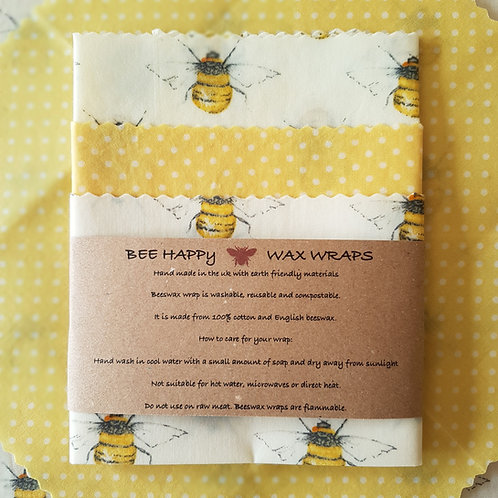 Beeswax Wraps - Yellow