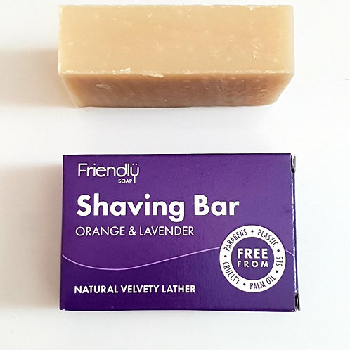 Orange & Lavender Shaving Bar by Friendly