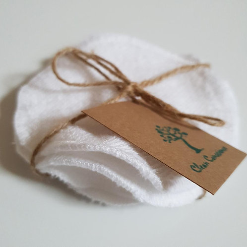 Bamboo Terry & Organic Cotton Make-up remover pads (5 x pads)