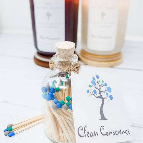 Glass bottle matches