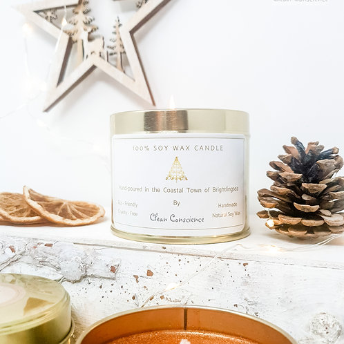 Christmas Candle - 100% Soy Wax - Fireside - 250ml