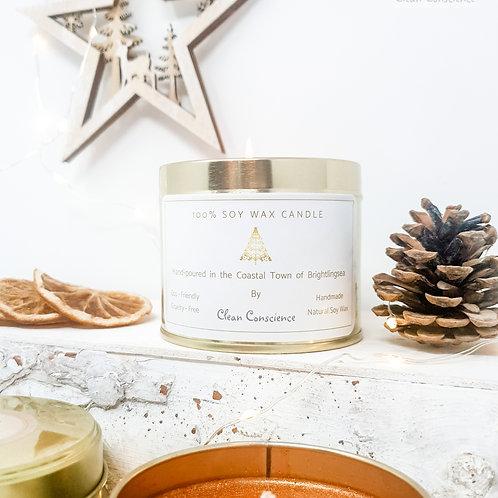 Christmas Candle - 100% Soy Wax - Amber Glow - 250ml