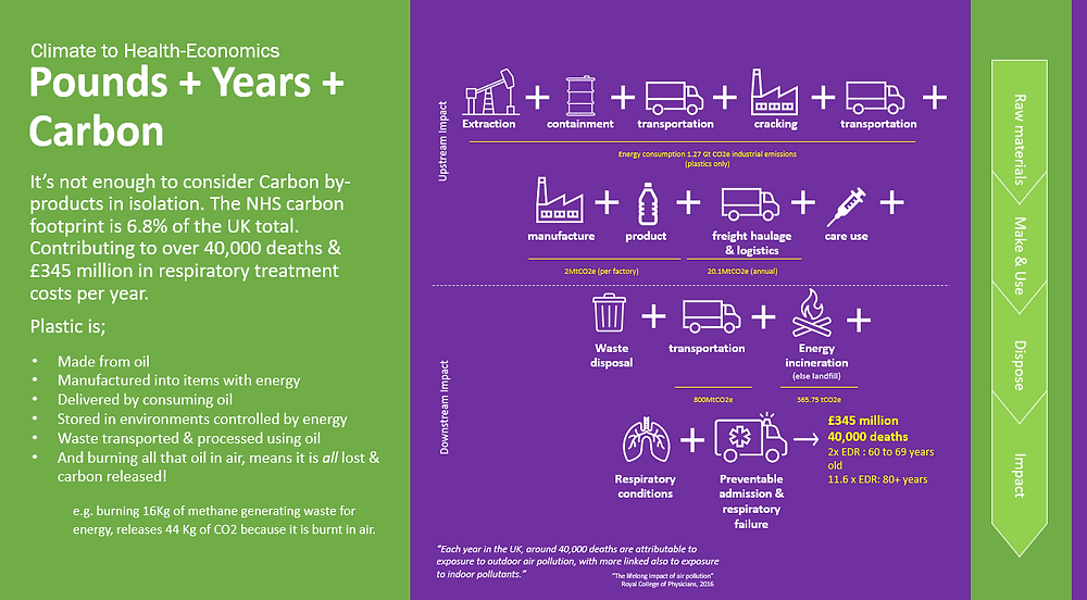 Lifecycle impact of carbon on health and populations