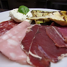 Dried and cured Italian meats and grilled vegetables