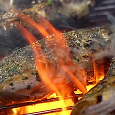 Charcoal Grilled Whole Sea Bass
