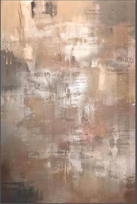 White Cedar Wood & Silver 100x150cm