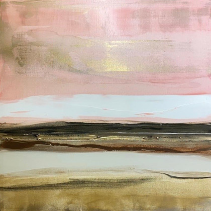 Solace in Gold no.1n 100x100cm
