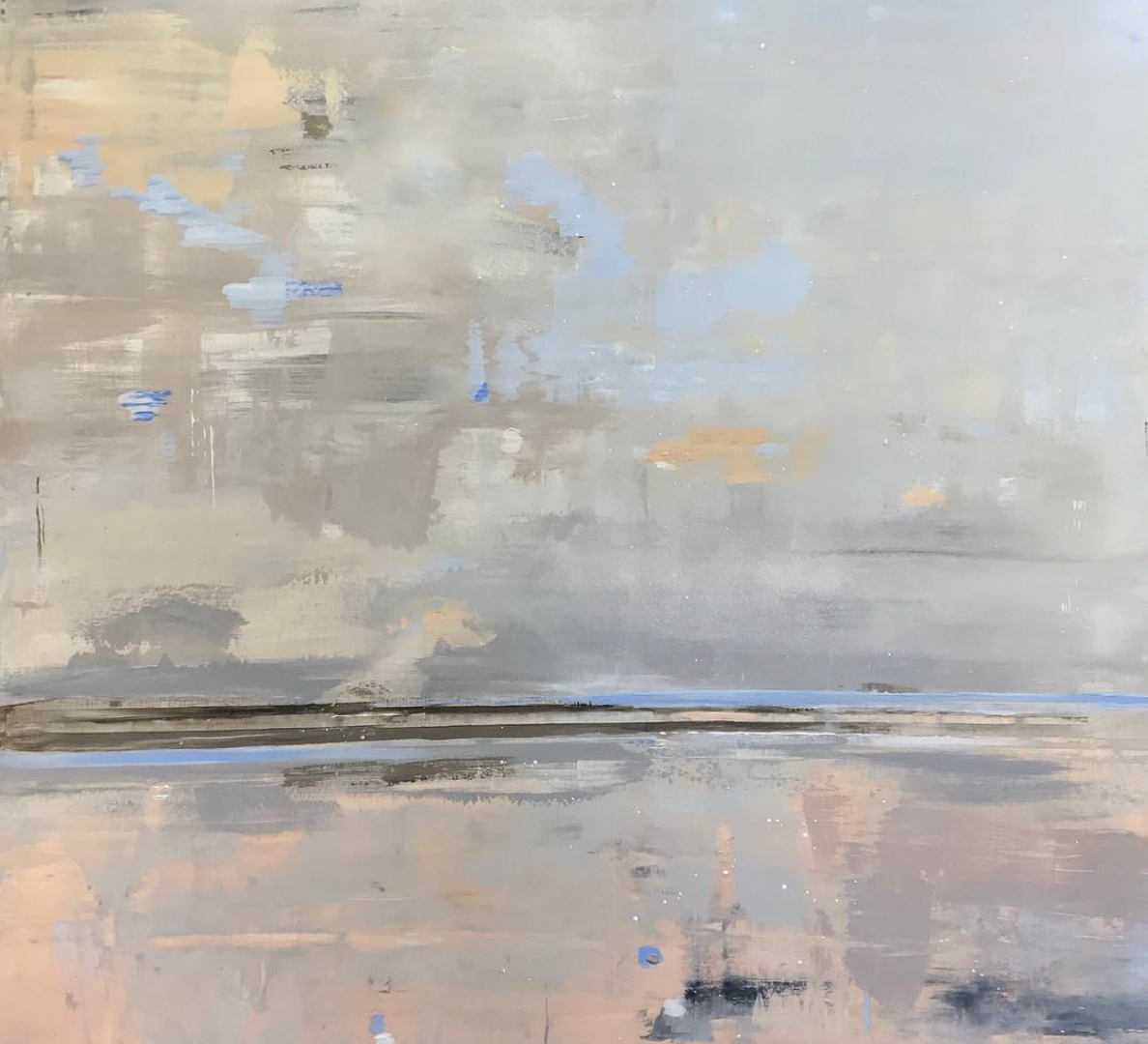 Taupe Sands 120x120cm SOLD