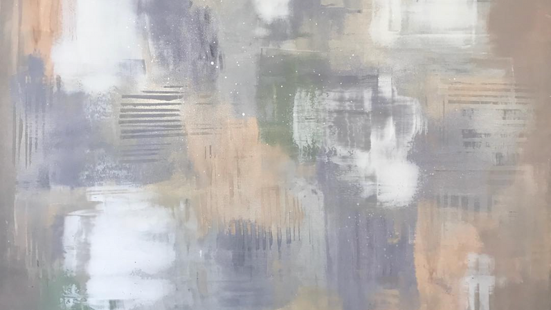 Lilac Reflections 120x120cm SOLD