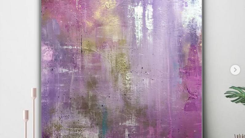 The Purple Journey 100x120cm