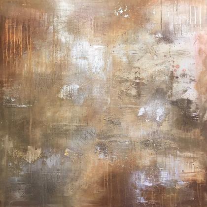 Copper Stone 100 x 100cm SOLD