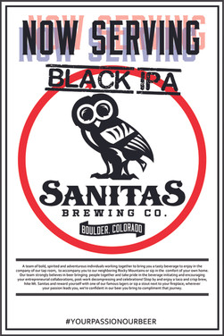 Now Serving Black IPA Poster