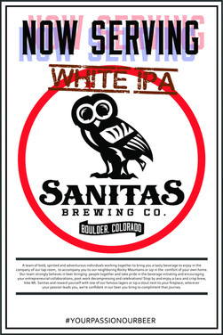 Now Serving White IPA Postera