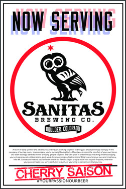 Now Serving Cherry Saison Poster