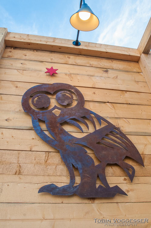 Metal Sanitas Owl Logo