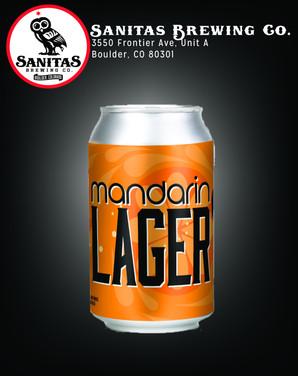 Mandarin Lager Front