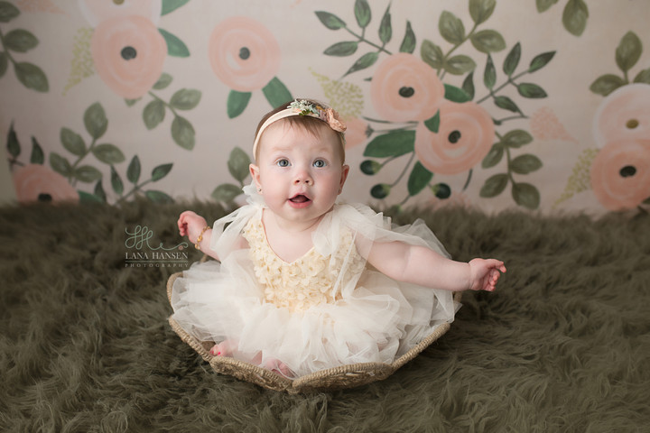Grundy 6 month milestone {Baby Photography}