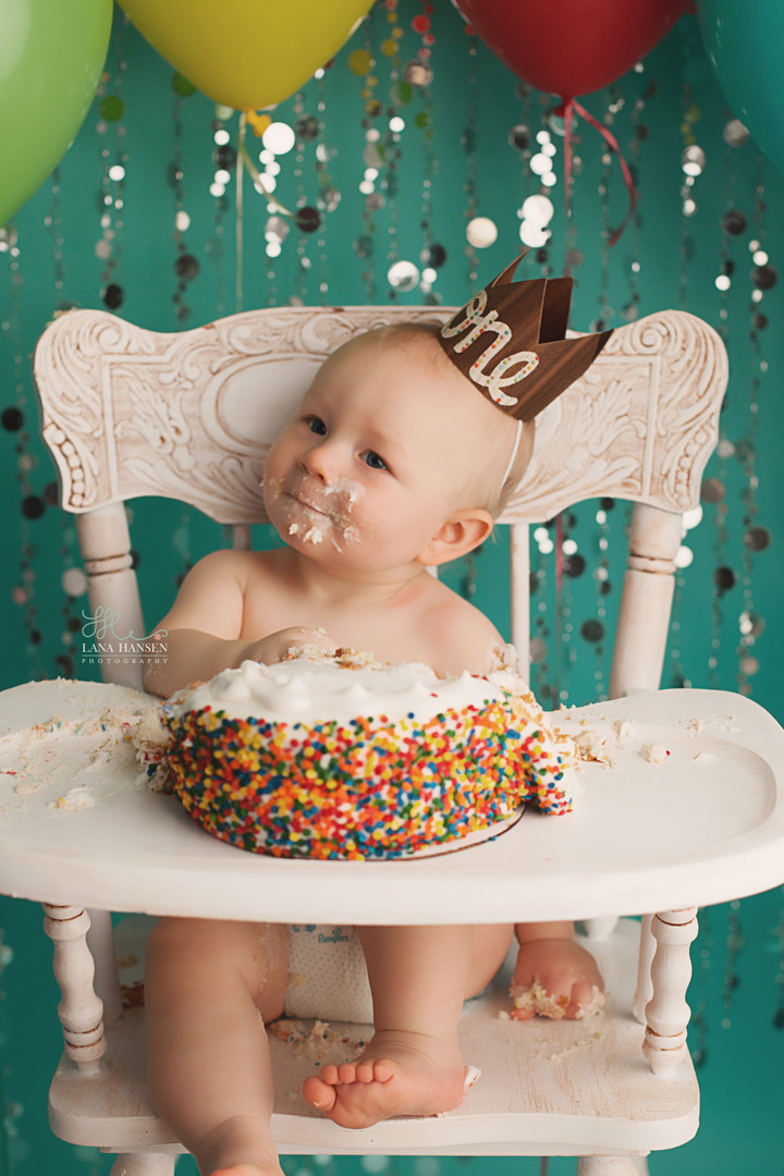 Peterson Smash Cake {Baby Photography}