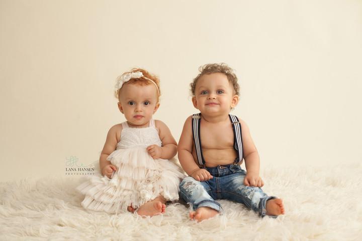 White Twins Smash Cake 2016 {Child Photography}